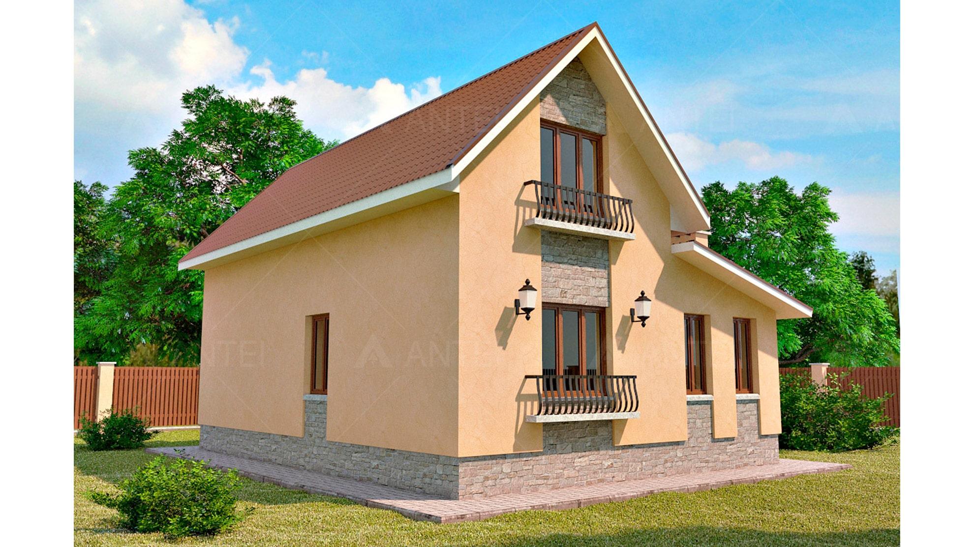 Проект мансардного дома «КМ-47» - фото №2