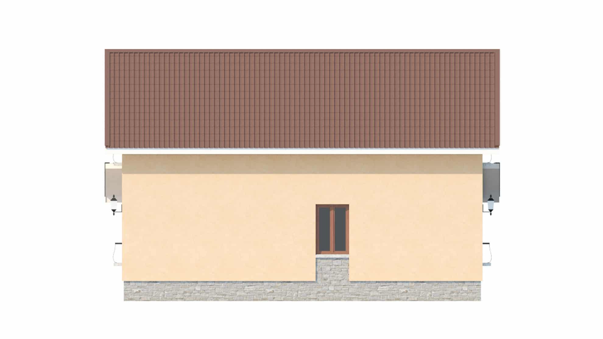 Фасад мансардного дома «КМ-47» - сзади