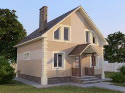 Проект мансардного дома с балконом «КМ-51»