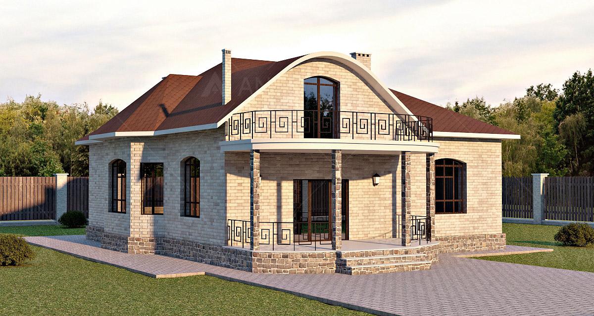 Проект мансардного дома с террасой «КМ-57» - фото №2