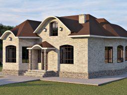 Проект мансардного дома с террасой «КМ-57»