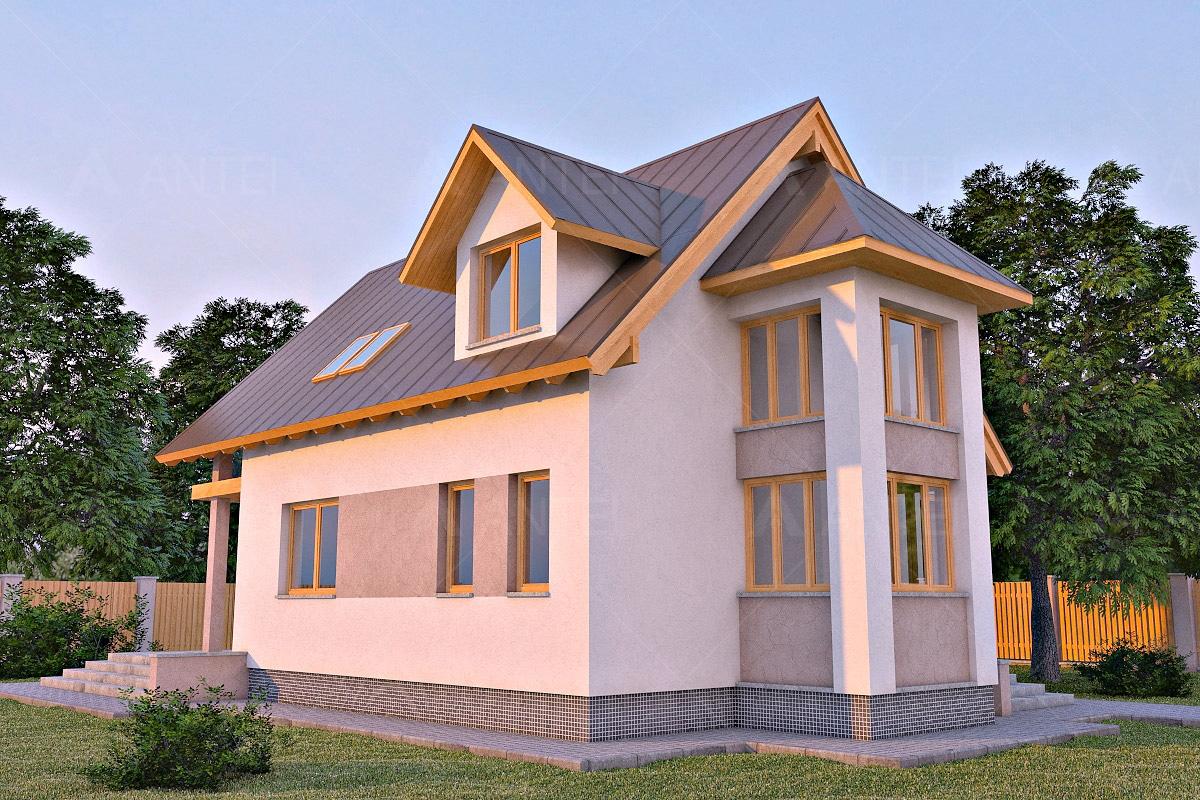 Проект мансардного дома с террасой «КМ-6» - фото №2