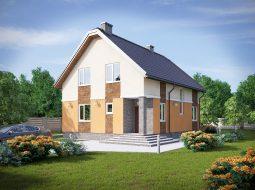Проект мансардного дома «КМ-62»