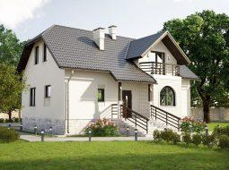 Проект мансардного дома «КМ-63»