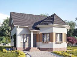 Проект мансардного дома «КМ-95»