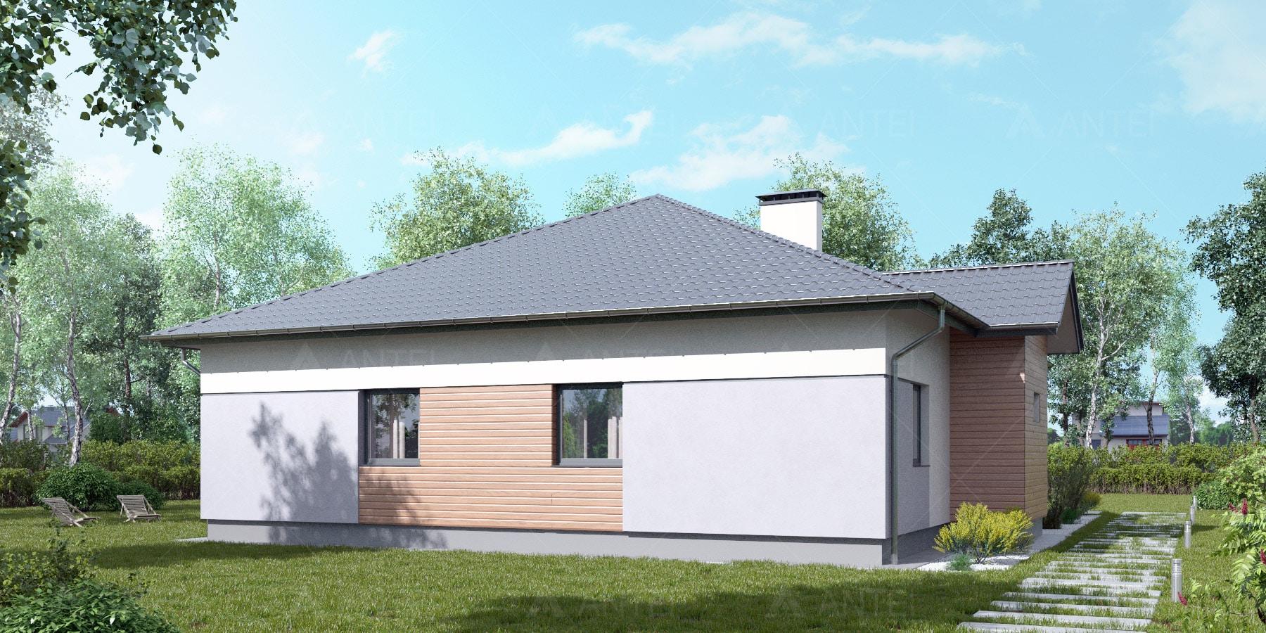Проект одноэтажного дома с террасой «КО-115» - фото №2