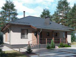 Проект одноэтажного дома с террасой «КО-118»
