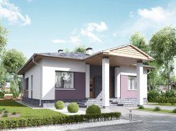 Проект одноэтажного дома с террасой «КО-120»