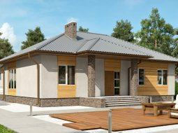 Проект одноэтажного дома с террасой «КО-121»