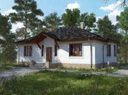 Проект одноэтажного дома с террасой «КО-12»
