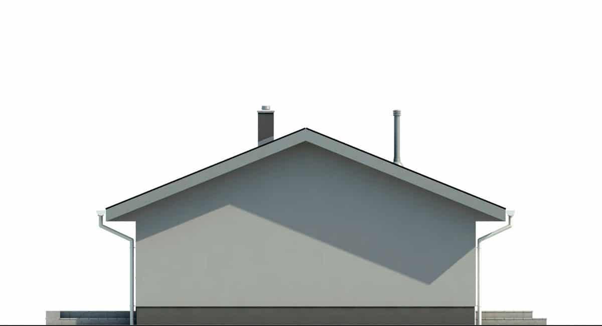 Фасад одноэтажного дома c террасой «КО-135» - слева