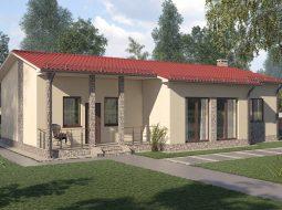 Проект одноэтажного дома с террасой «КО-14»
