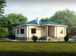 Проект одноэтажного дома с верандой «КО-22»