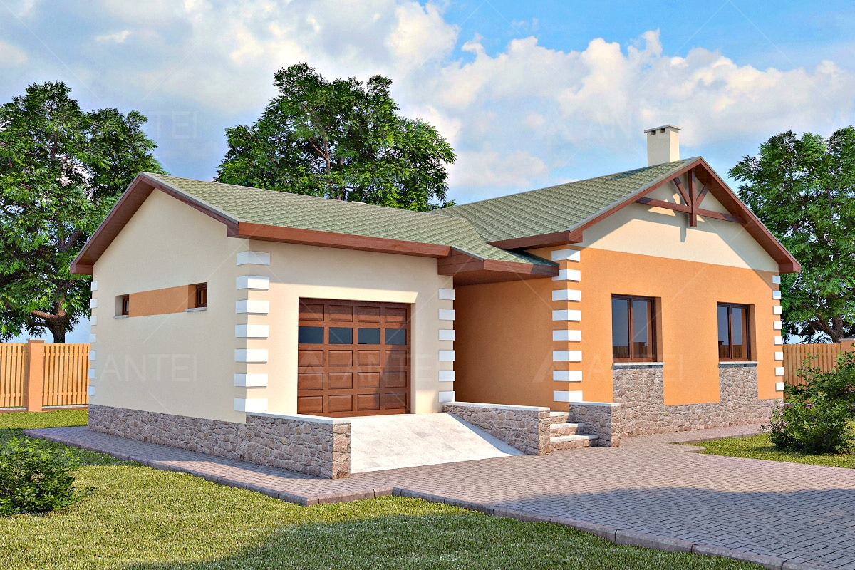 Проект одноэтажного дома с гаражом «КО-27» - фото №2