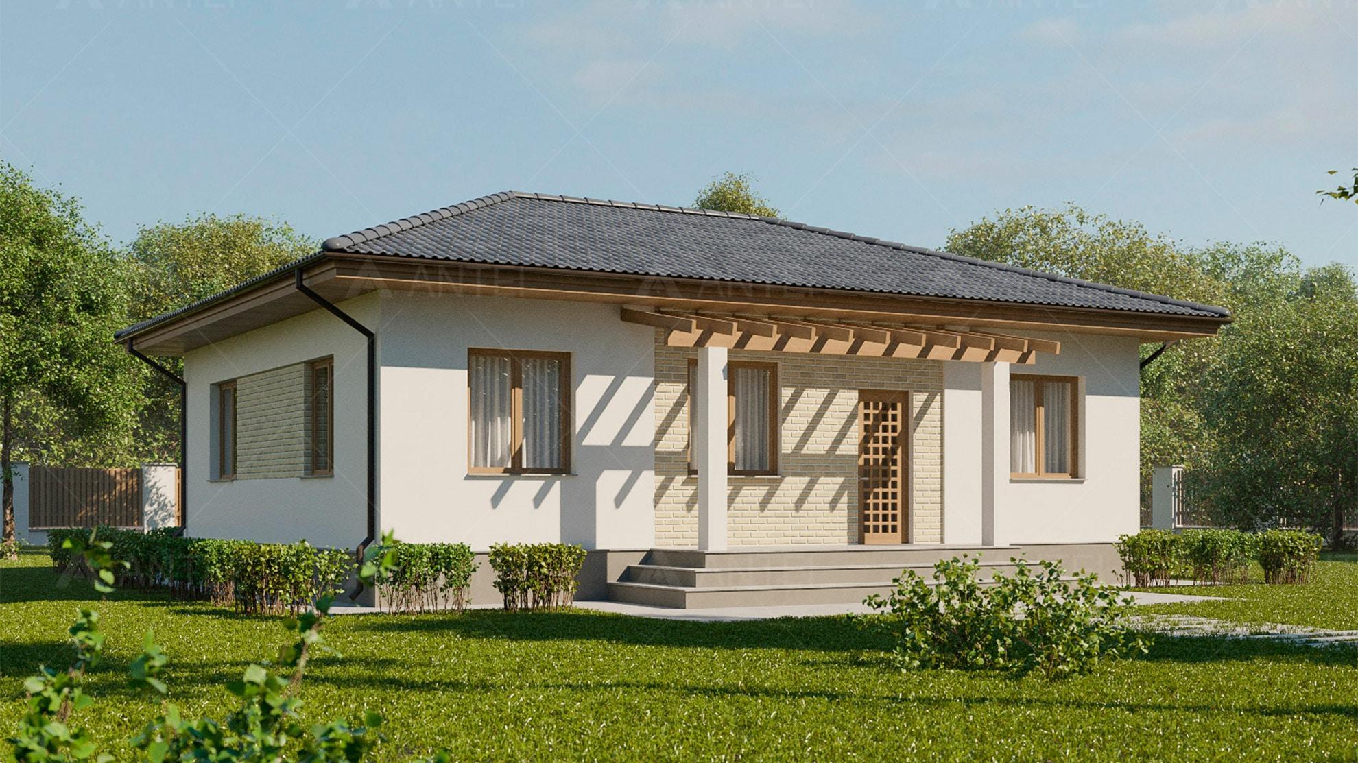 Проект одноэтажного дома «КО-3» - фото №1