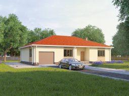 Проект одноэтажного дома с гаражом «КО-31»