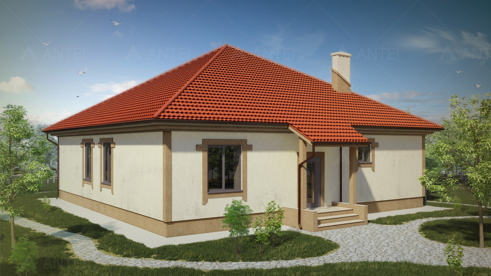 Проект одноэтажного дома «КО-32»