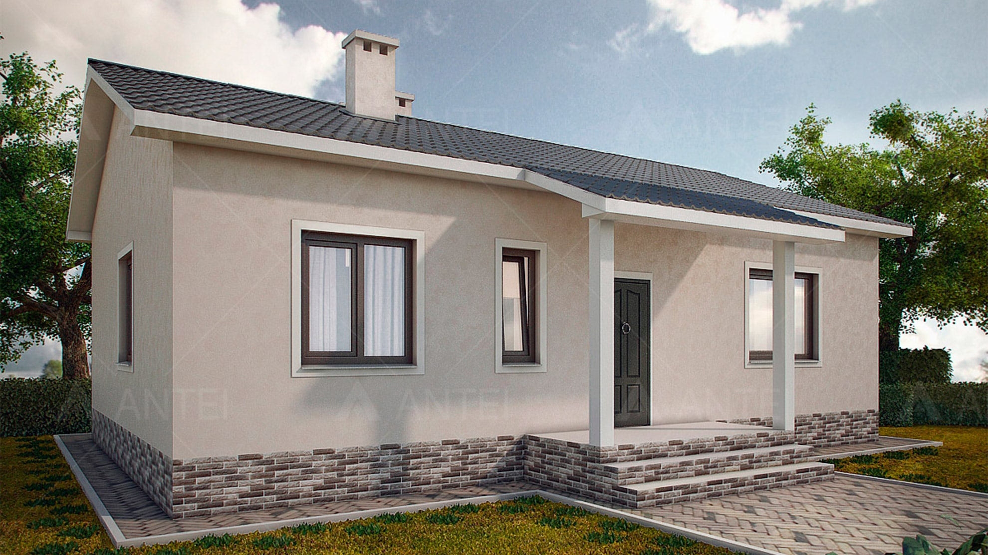 Проект одноэтажного дома «КО-4» - фото №1