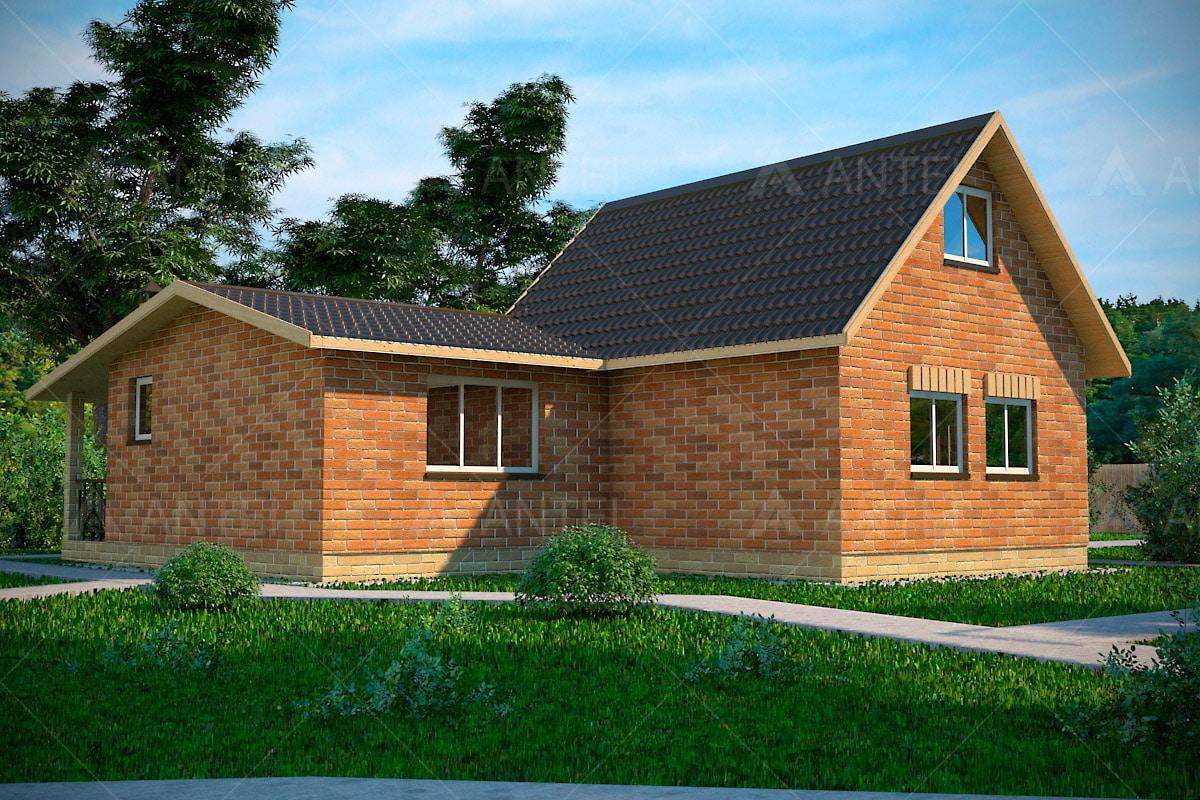 Проект одноэтажного дома с террасой «КО-41» - фото №2