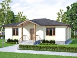 Проект одноэтажного дома «КО-43»