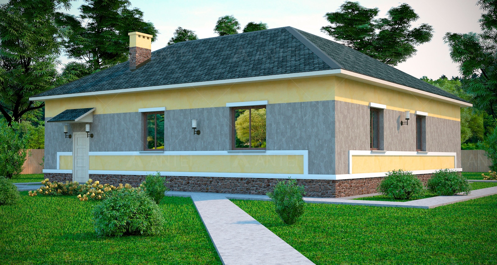 Проект одноэтажного дома с гаражом «КО-45» - фото №2