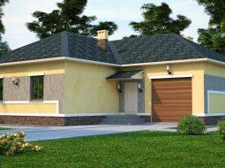 Проект одноэтажного дома с гаражом «КО-45»