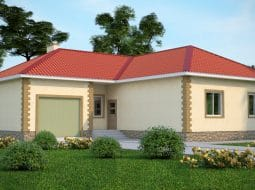 Проект одноэтажного дома с гаражом «КО-47»