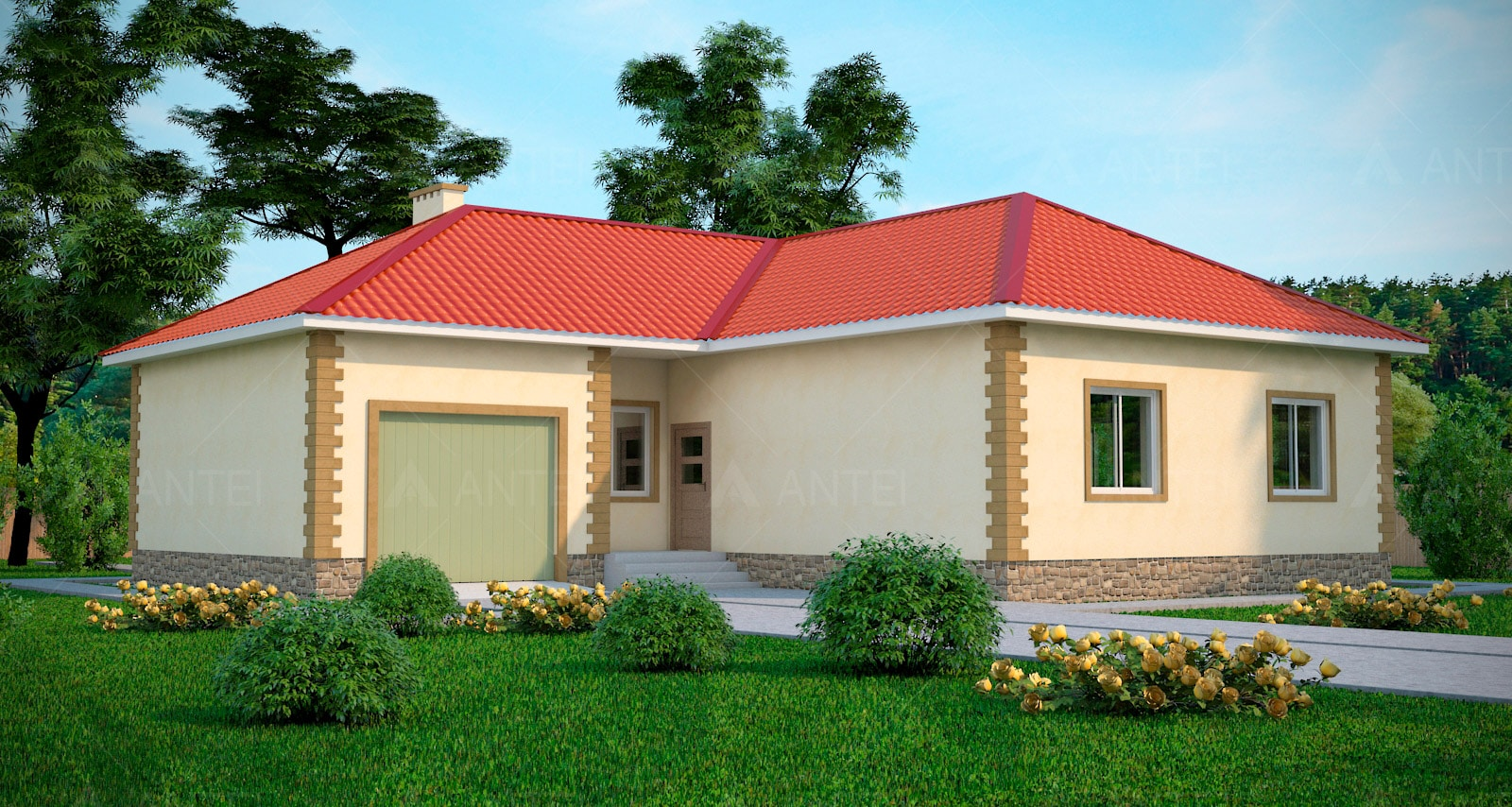 Проект одноэтажного дома с гаражом «КО-47» - фото №2