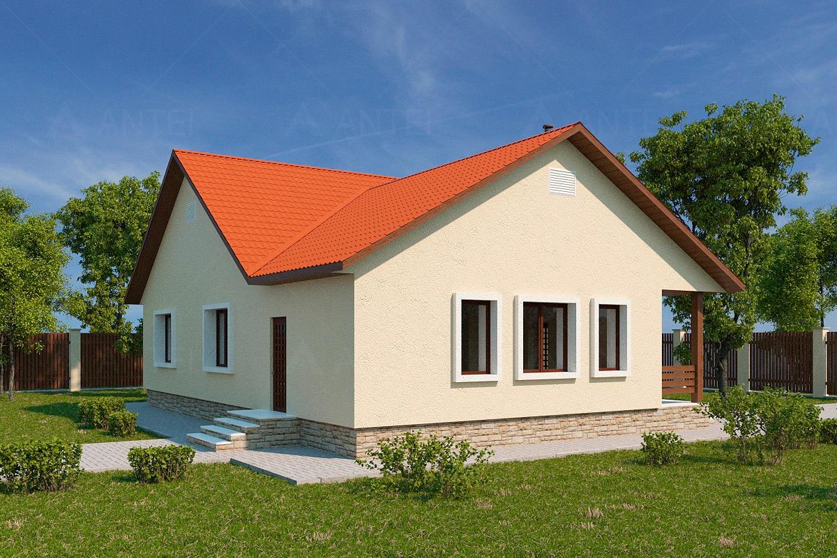 Проект одноэтажного дома с террасой «КО-49» - фото №2