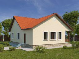 Проект одноэтажного дома с террасой «КО-49»