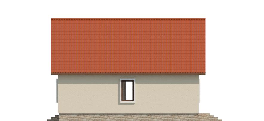 Фасад одноэтажного дома с террасой «КО-49» - слева