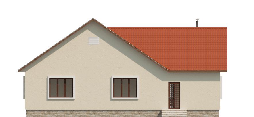 Фасад одноэтажного дома с террасой «КО-49» - спереди
