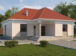 Проект одноэтажного дома «КО-5»