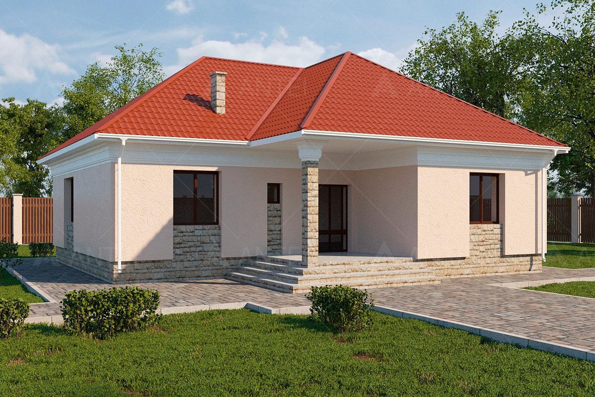 Проект одноэтажного дома «КО-5» - фото №1