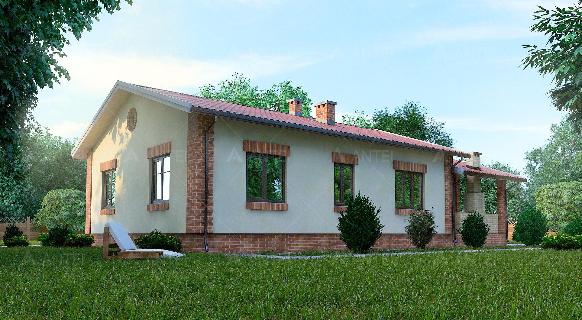 Проект одноэтажного дома с террасой «КО-50» - фото №2