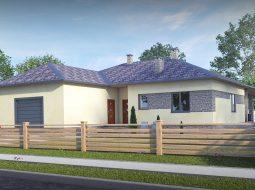 Проект одноэтажного дома с гаражом и террасой «КО-51»