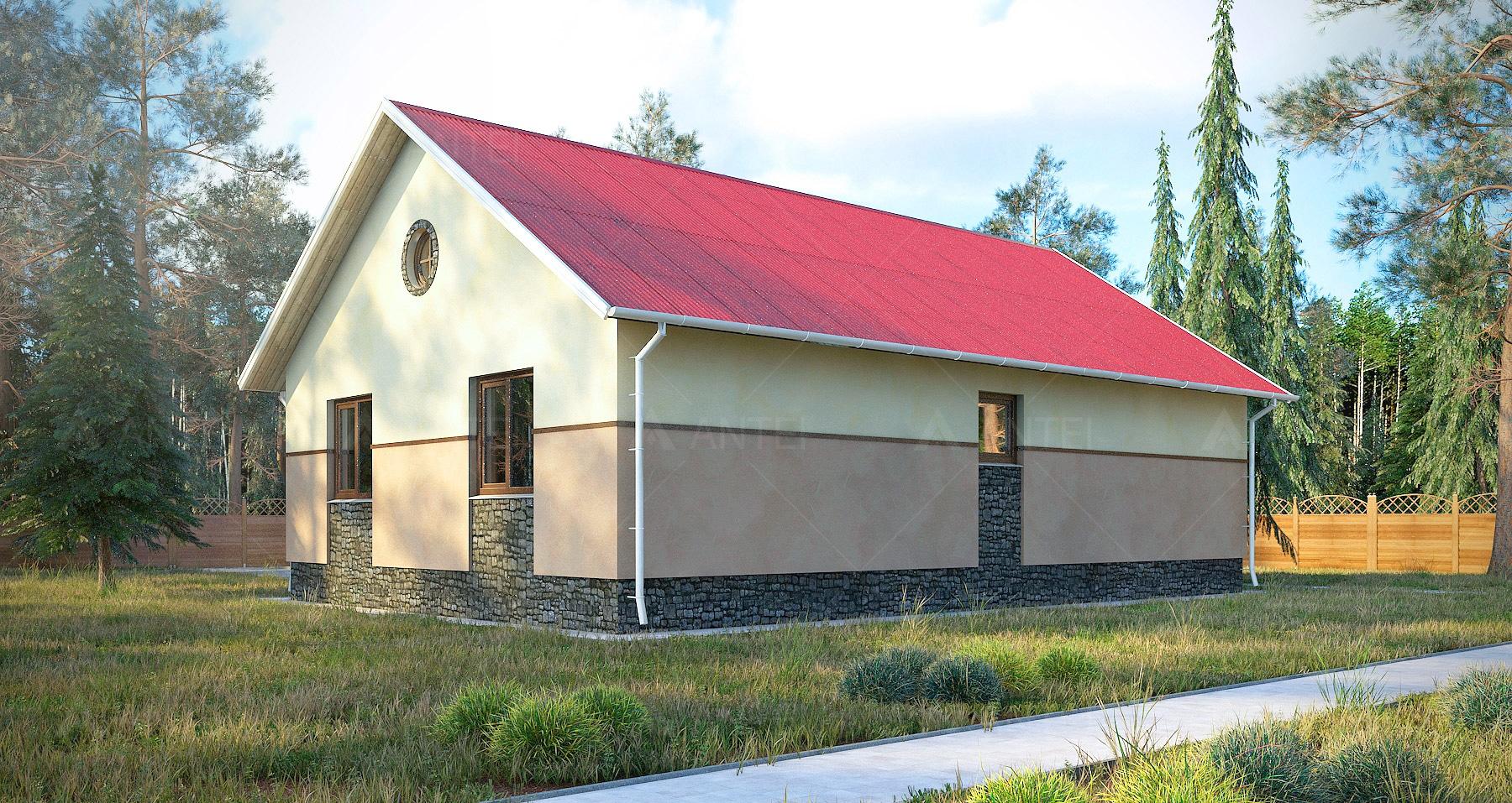 Проект одноэтажного дома «КО-54» - фото №2