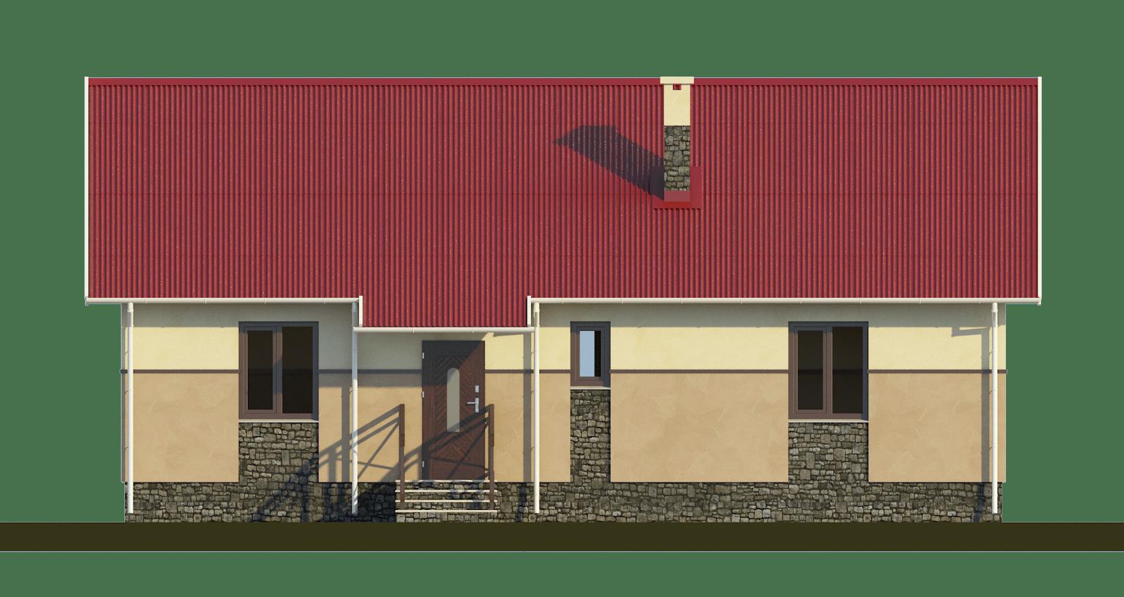 Фасад одноэтажного дома «КО-54» - спереди