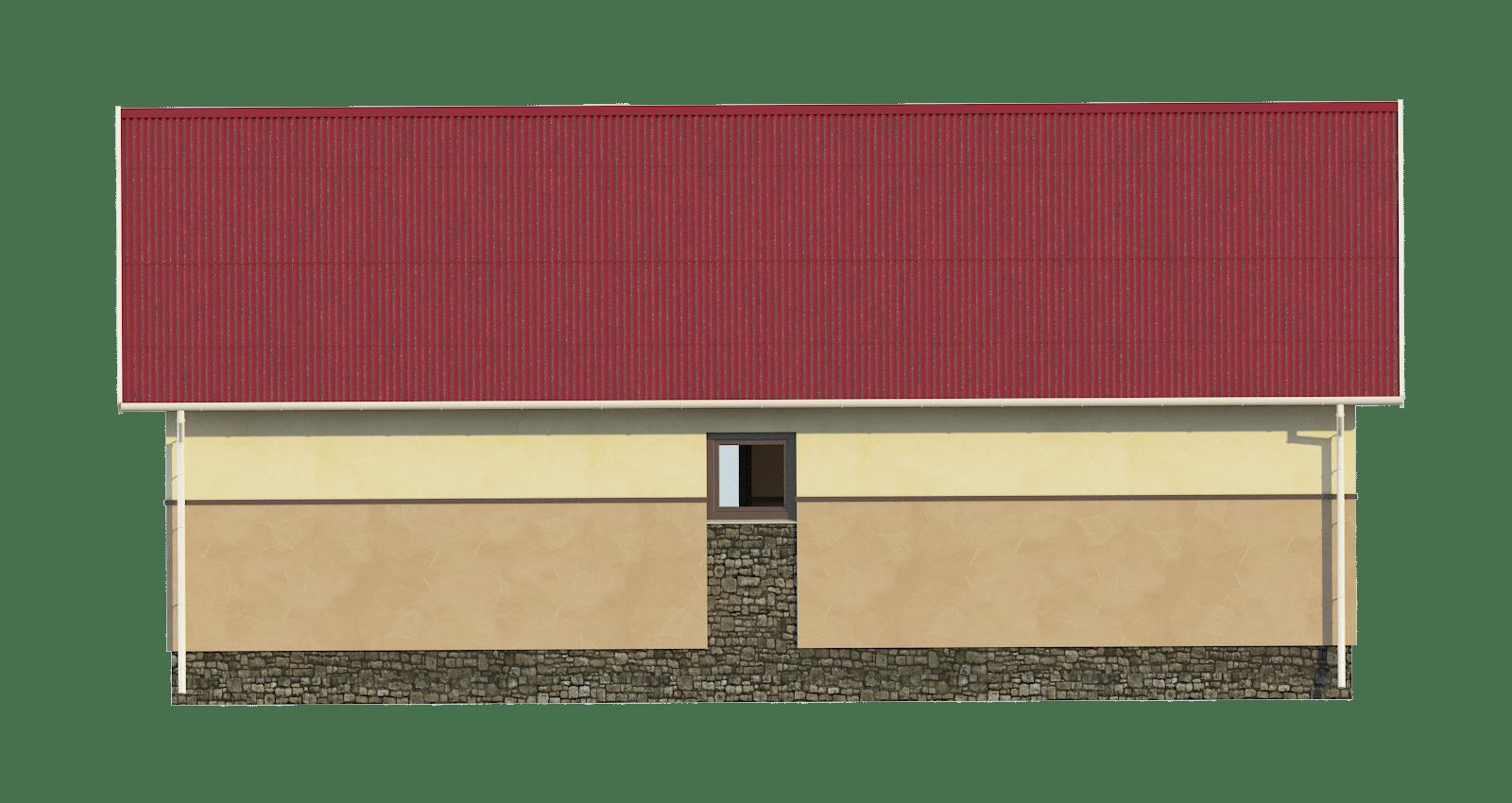 Фасад одноэтажного дома «КО-54» - сзади
