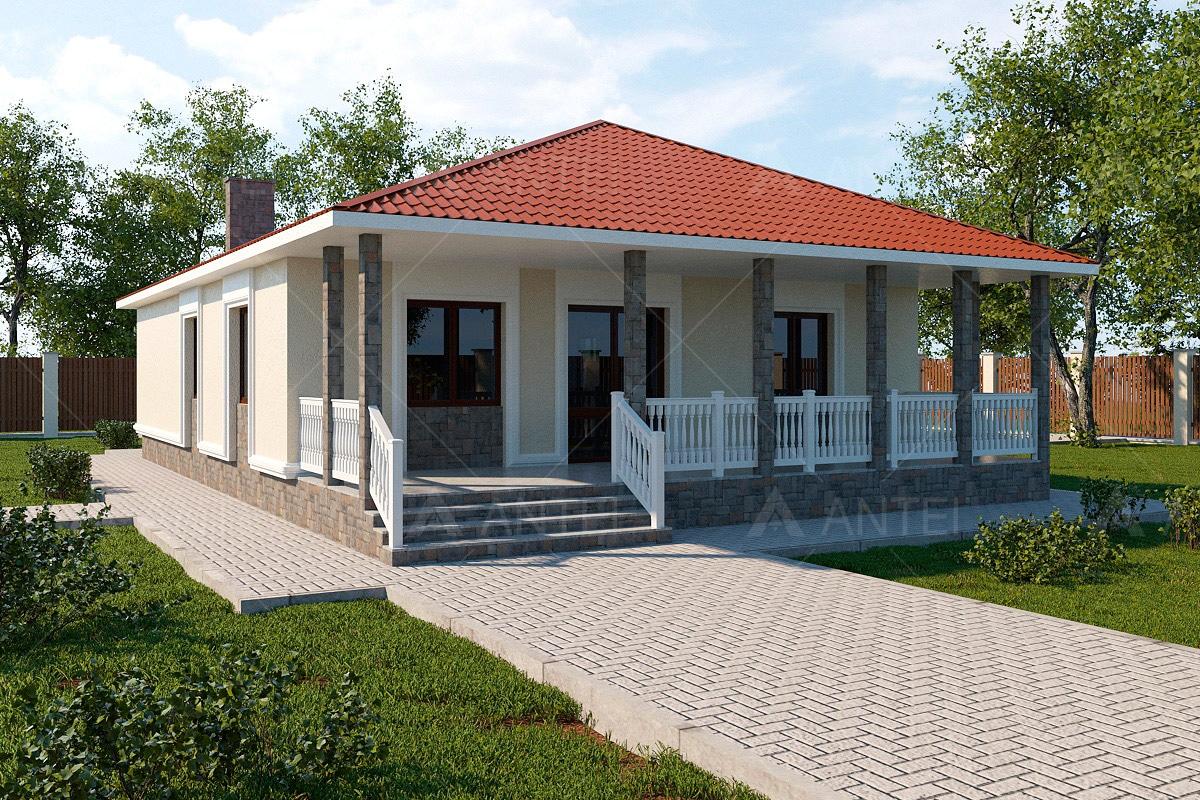 Проект одноэтажного дома с террасой «КО-59» - фото №2