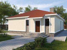 Проект одноэтажного дома с террасой «КО-59»