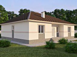 Проект одноэтажного дома с террасой «КО-61»