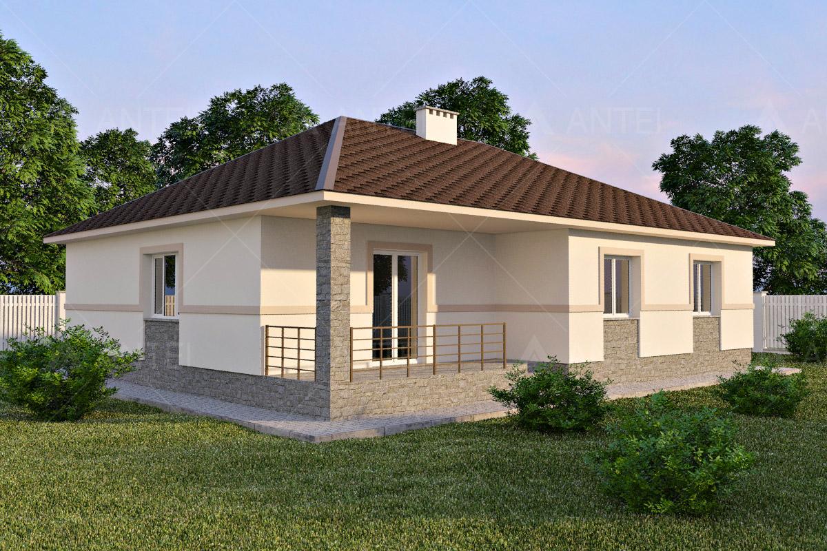 Проект одноэтажного дома с террасой «КО-61» - фото №2