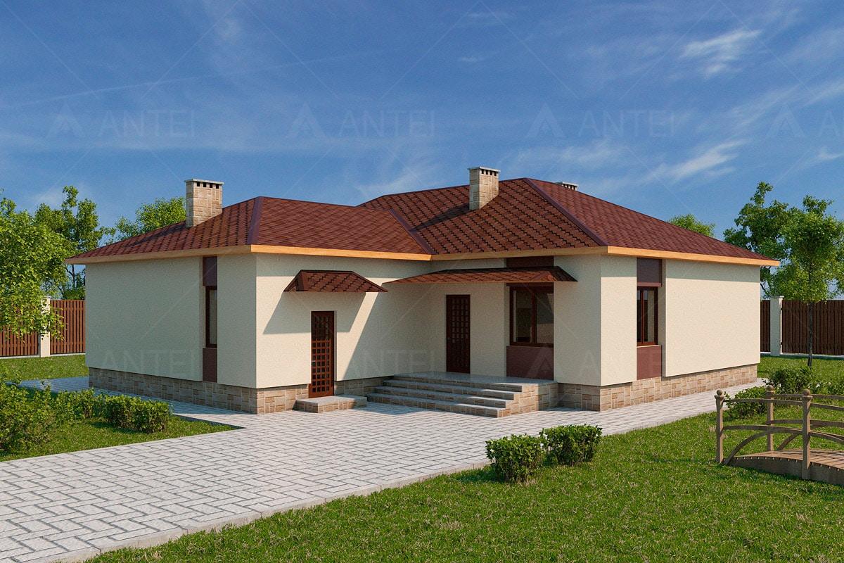 Проект одноэтажного дома с террасой «КО-62» - фото №2