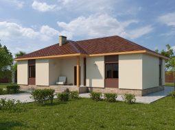 Проект одноэтажного дома с террасой «КО-62»