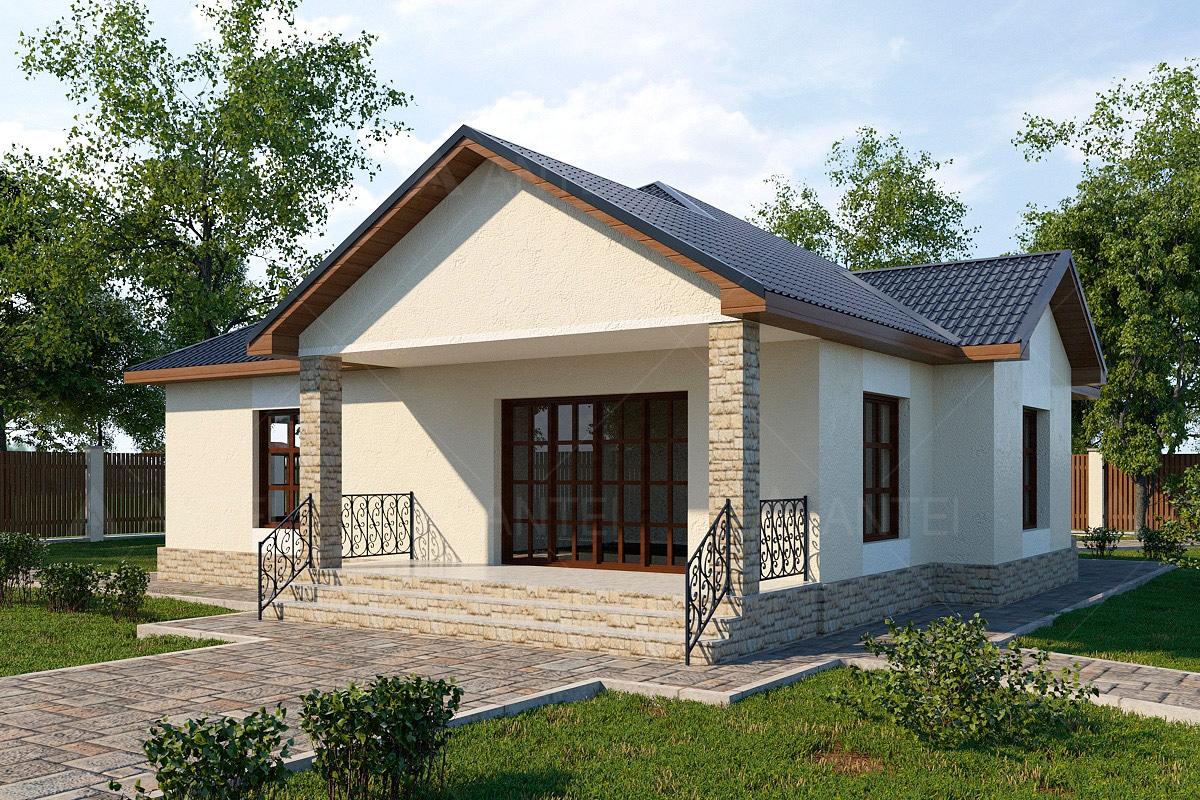 Проект одноэтажного дома с гаражом и террасой «КО-64» - фото №2