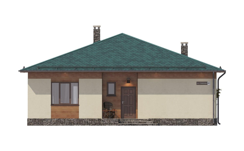 Фасад одноэтажного дома с террасой «КО-67» - спереди