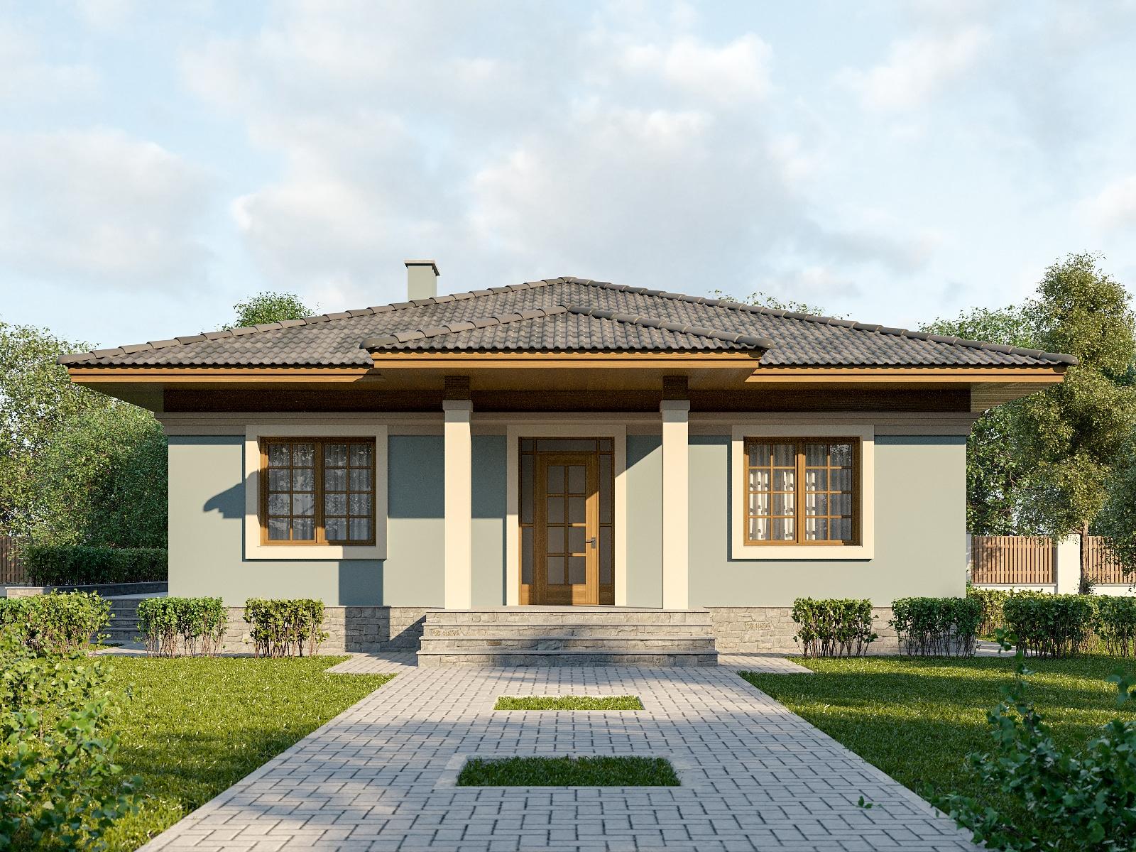 проект одноэтажных домов с верандой фото реальным