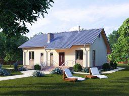 Проект одноэтажного дома с террасой «КО-71»
