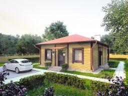 Проект одноэтажного дома с террасой «КО-73»